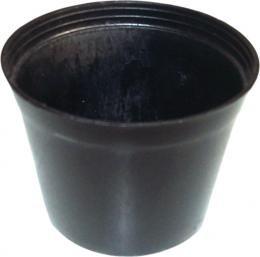 Vaso Plastico Preto - T7( unidade )